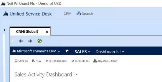 USD - CRM Button
