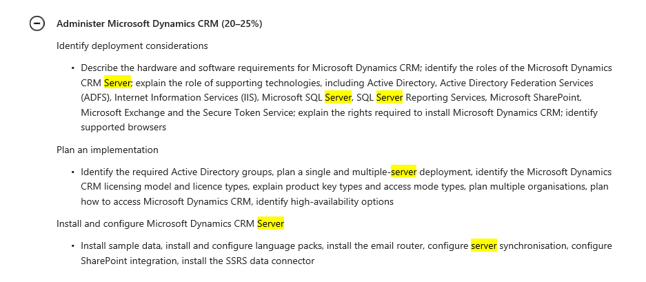 Mb2 706 Online Deployment Certification Microsoft Dynamics 365