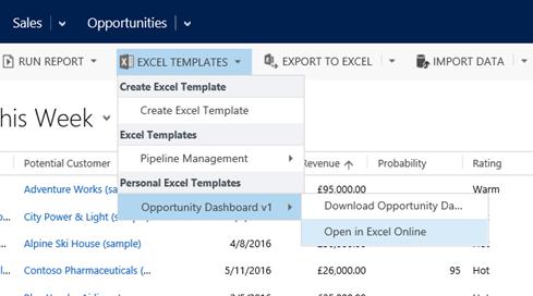 CRM2016 – Excel Templates - Microsoft Dynamics CRM Community