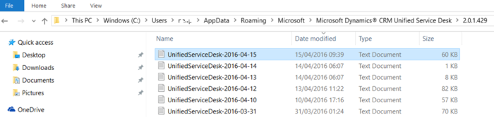 USD – Log Files | Microsoft Dynamics 365 and Unified Service