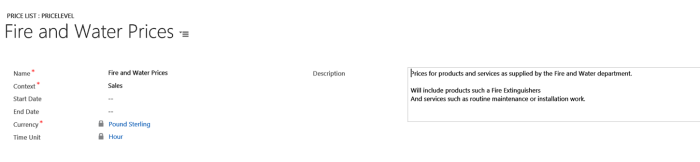 field service price lists microsoft dynamics crm community