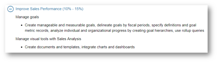 you can see below that in the skills measured statement we need to understand how to improve sales performance gamification falls very much under this